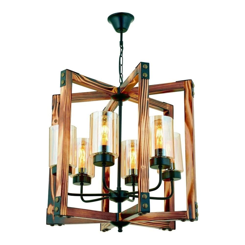 Lampa wisząca z drewna grabu Tubo