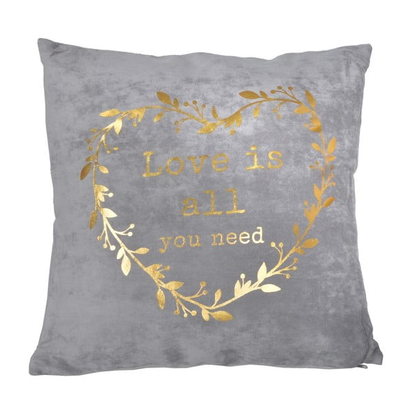 Poduszka Golden Heart, 45x45 cm