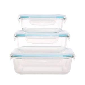 Zestaw 3 szklanych pojemników z wieczkiem Sabichi Grande