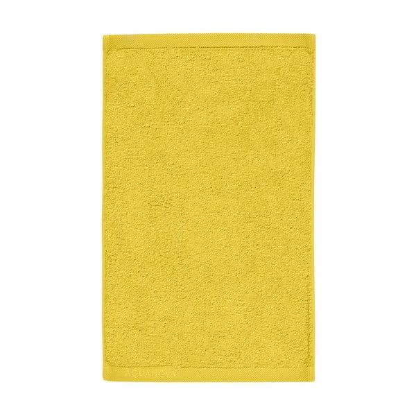 Żółty ręcznik Aquanova London, 30x50 cm