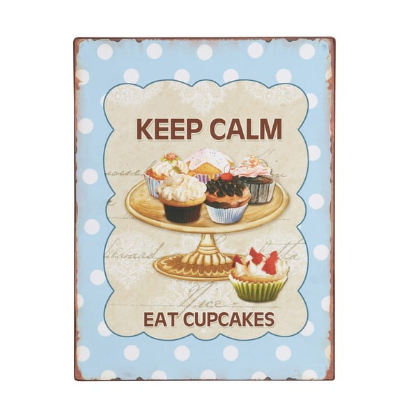 "Tabliczka ""Keep calm, eat cupcakes"""
