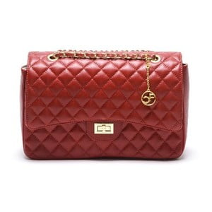 Skórzana torebka Carla Ferreri 2063 Rosso