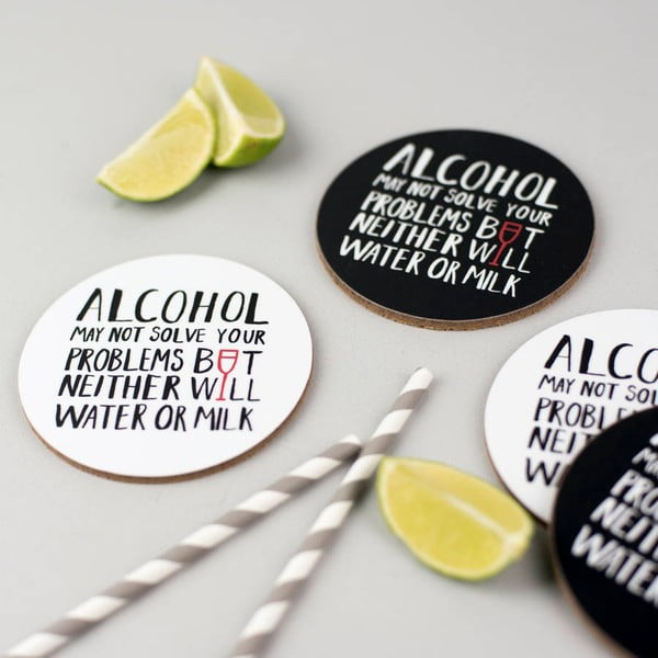 Zestaw 4 podstawek Alcohol Problems