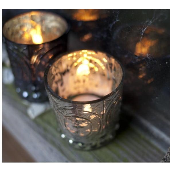 Komplet 3 świeczników Embossed T-Light