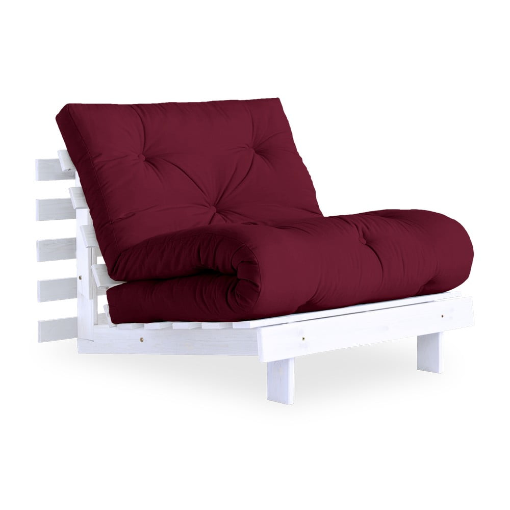 Fotel rozkładany Karup Design Roots White/Bordeaux