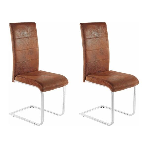 Zestaw 2 brązowych krzeseł Støraa Kosuma