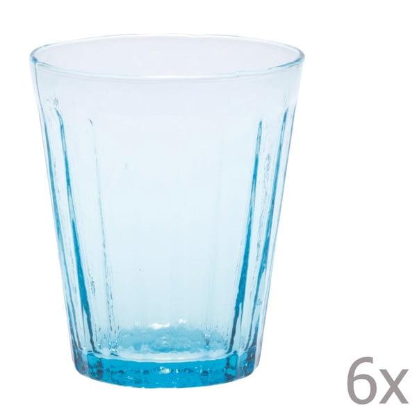 Zestaw 6 szklanek na wodę Lucca Sky, 450 ml