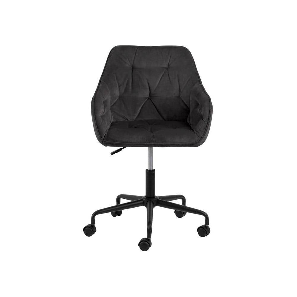 Szarobrązowe krzesło biurowe z aksamitnym obiciem Actona Brooke