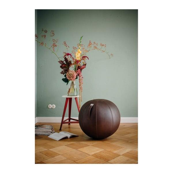 Piłka do siedzenia VLUV 75 cm, czarna, skórzany efekt