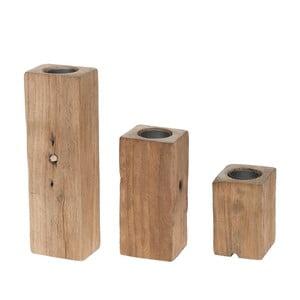 Zestaw 3 świeczników Wooden Anie
