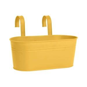 Żółta doniczka wisząca Butlers Zinc, dł.30cm