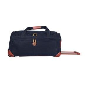 Podróżna torba na kółkach Jean Louis Scherrer Navy, 60 l