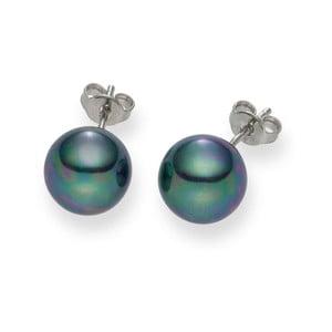 Ciemnoniebieskie   kolczyki z pereł Pearls of London Mystic