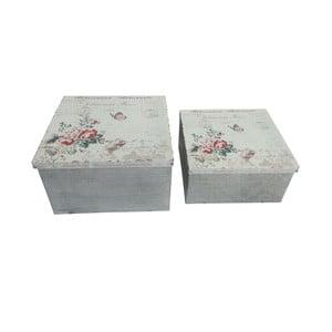 Zestaw 2 pudełek metalowych Red Roses
