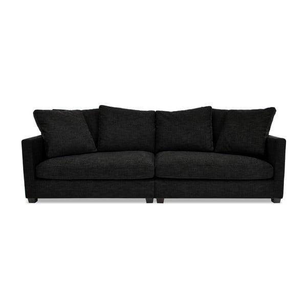 Antracytowa sofa trzyosobowa VIVONITA Hugo