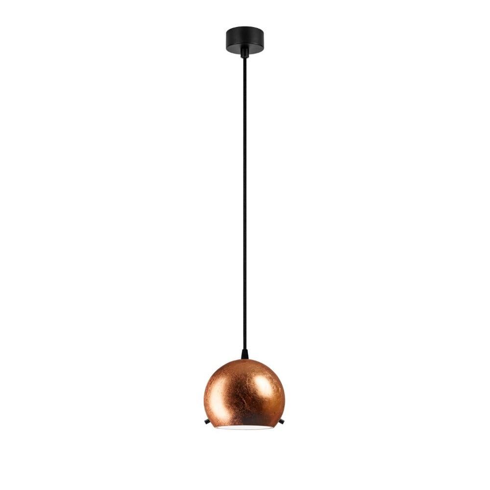 Lampa wisząca w miedzianej barwie z czarnym kablem Sotto Luce Myoo