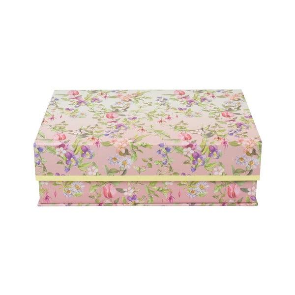 Zestaw 3 pudełek ze złotym paskiem Charming Garden