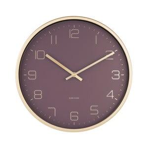 Fioletowy zegar ścienny Karlsson Elegance