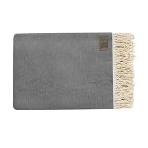 Szary pled bawełniany Pure, 130x170cm