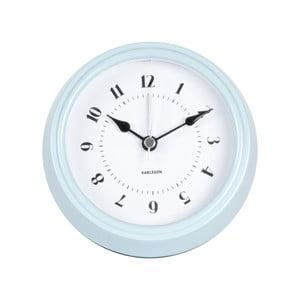 Niebieski zegar ścienny Present Time Fifties, średnica 11,5cm