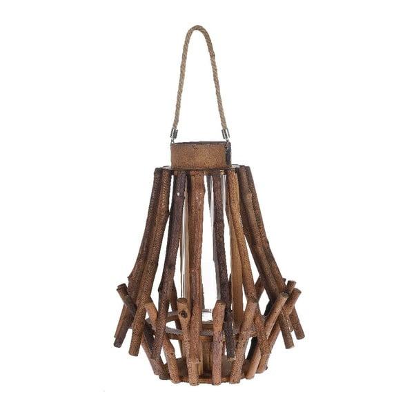 Lampion drewniany Bamboo, 31x38 cm