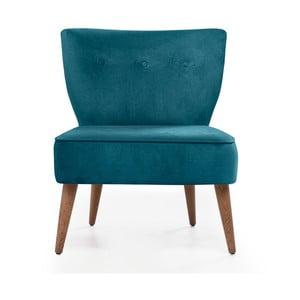Turkusowy fotel tapicerowany Balcab Home Molly