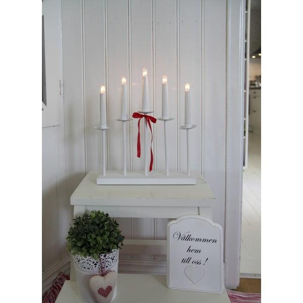 Świecznik LED Greta, biały