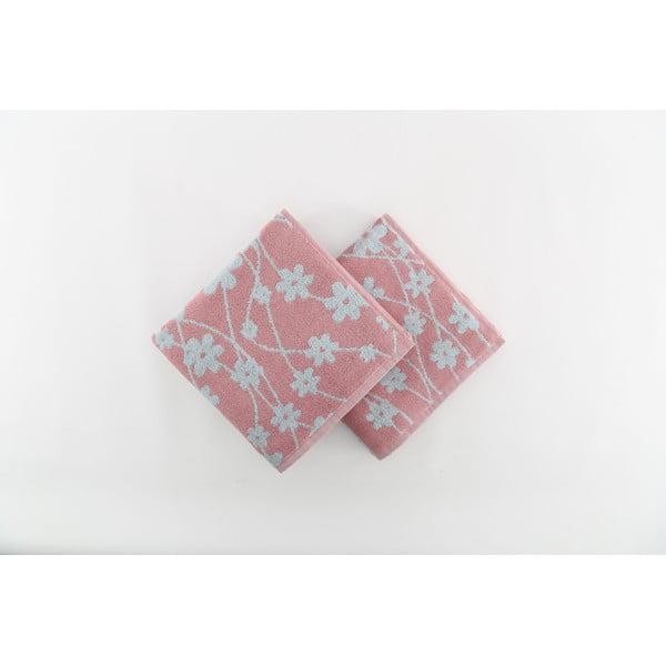 Zestaw 2 ręczników Crazy Vibes Blue, 50x100 cm