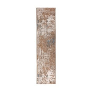 Brązowo-niebieski chodnik dwustronny Maleah, 300x75cm