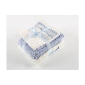 Komplet 4 ręczników z bawełny premium Tile
