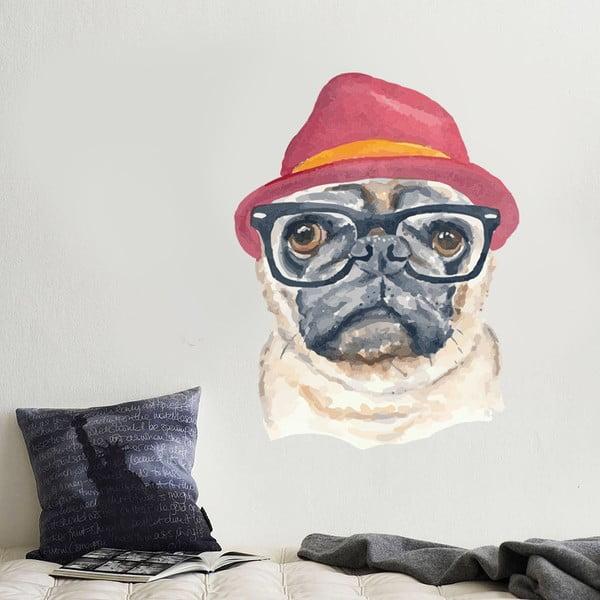Naklejka Hipster Dog, 70x50 cm