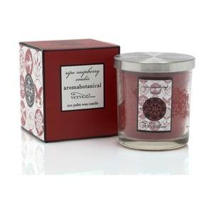 Świeczka z wosku palmowego o zapachu malin Aromabotanical Glass, czas palenia16h