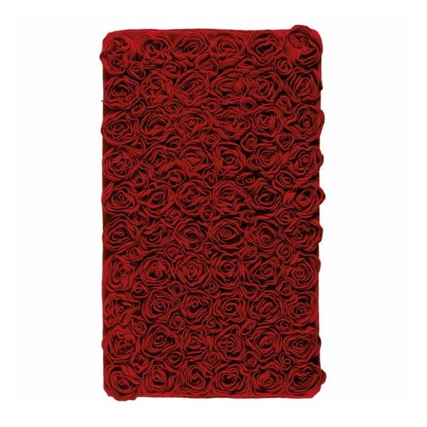 Czerwony dywanik łazienkowy Aquanova Rose, 70x120 cm
