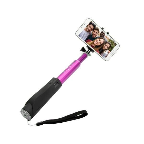 Selfie stick FIXED z przyciskiem bluetooth, różowy