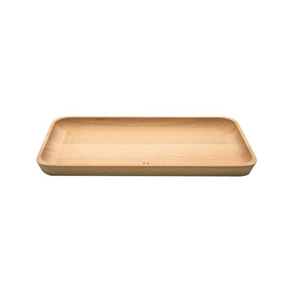 Taca drewniana Sola Flow, 30 x 17 cm