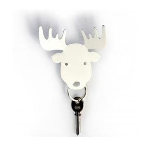 Wieszak na klucze QUALY Moose Key Holder, biały