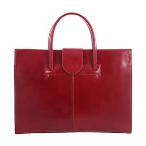 Czerwona torba skórzana Paola