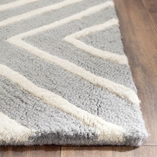 Szara dywan wełniany Safavieh Prita, 152x243cm