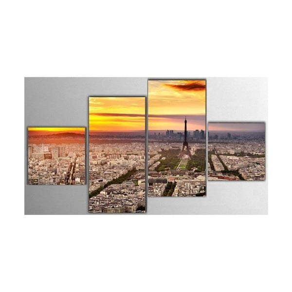 Czteroczęściowy obraz Paris, 50x100 cm
