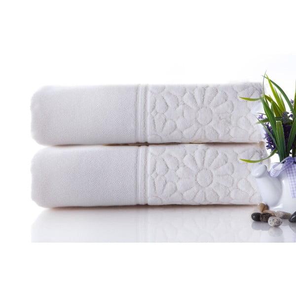 Zestaw 2 ręczników Samba Ecru, 50x90 cm
