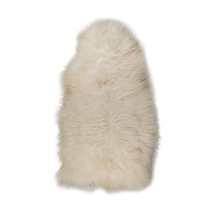 Biała skóra owcza XXXL z szorstkim włosiem, 130x70 cm