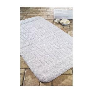 Dywanik łazienkowy Cotton Stripe White, 60x100 cm