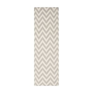 Wełniany dywan Nelli 76x243 cm, szary