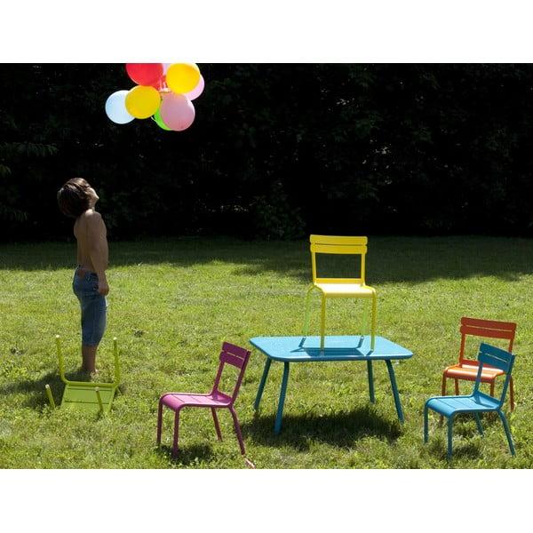 Turkusowy stół dziecięcy Fermob Luxembourg