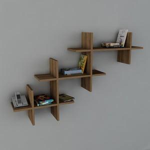 Półka Valentino Book Walnut, 22x140x84 cm