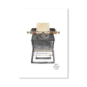 Autorski plakat Typewriter, 30x42 m