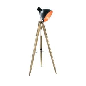 Lampa stojąca z drewnianą konstrukcją InArt