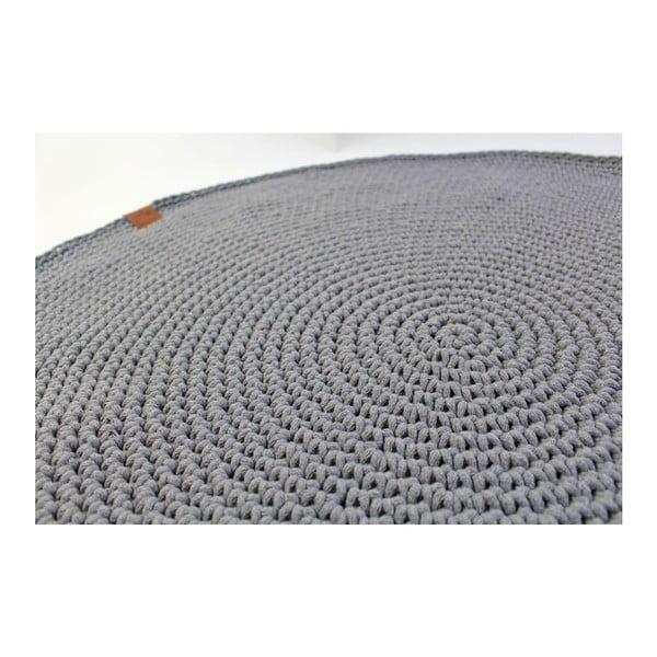 Dywan dziergany okrągły Catness, szary, 100 cm