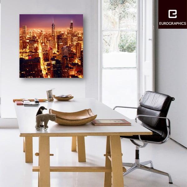 Szklany obraz High Above Chicago, 80x80 cm