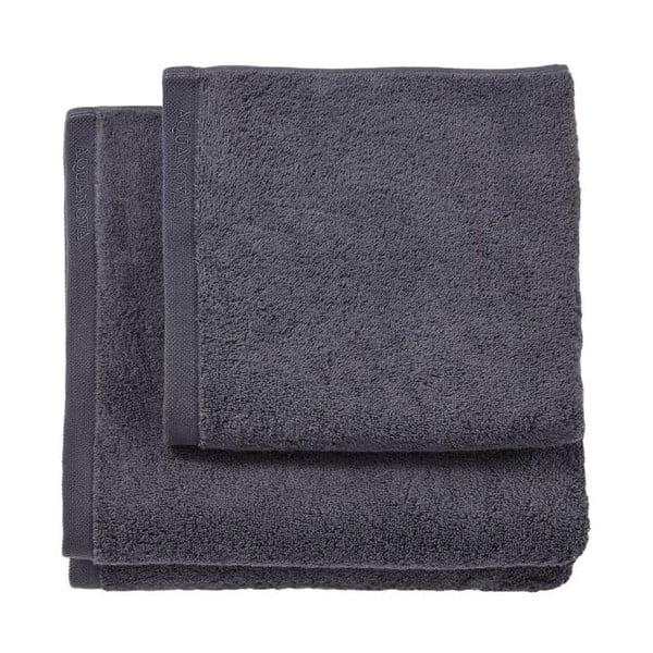Szary ręcznik kąpielowy Aquanova London, 70x130 cm